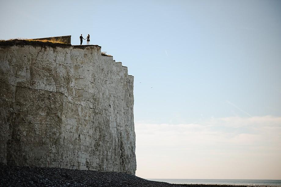 Białe klify w Angli